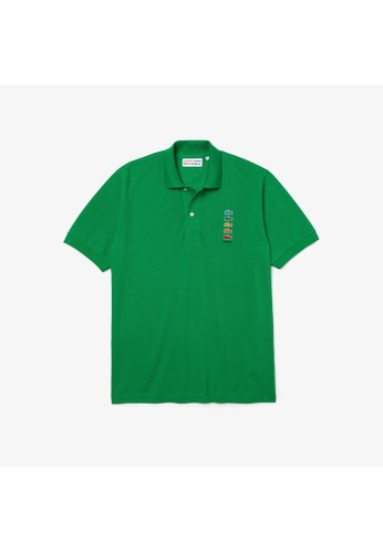 Lacoste green Men's Polaroid Collaboration Coloured Crocodiles Classic Fit Polo Shirt 702F5AA80FF078GS_1