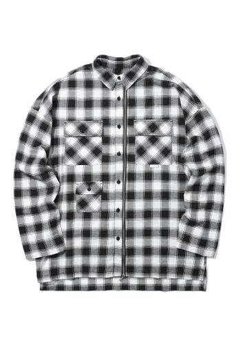 Fivecm black Check pocket shirt 66C0EAA46AC67CGS_1