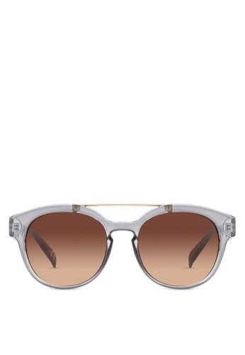 JP0059 esprit高雄門市金屬條貓眼太陽眼鏡, 飾品配件, 飾品配件