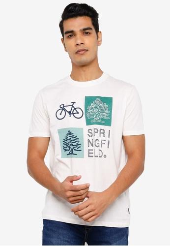 Springfield white Logo T-Shirt 09BFBAA9F75099GS_1