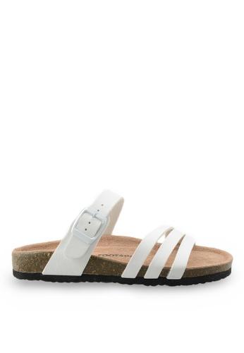 Footspot white Footspot – Casual Cork Sandals FO296SH53EAWHK_1