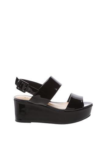 Schutz 黑色 SCHUTZ 坡跟高跟涼鞋 - ANGIE (黑色(V1 2018)) 74600SHF6BF3C4GS_1