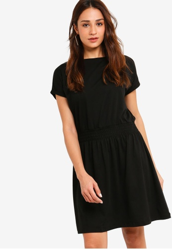ZALORA black Smoke Waist Knit Dress BADC5AADA07331GS_1