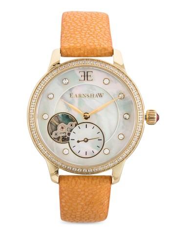 Austesprit twralis 暗紋真皮女裝手錶, 錶類, 飾品配件
