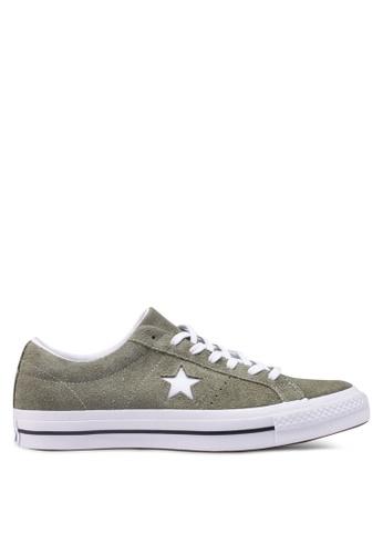 Converse green One Star Vintage Suede Ox Sneakers 1B95ESH7769DE0GS_1