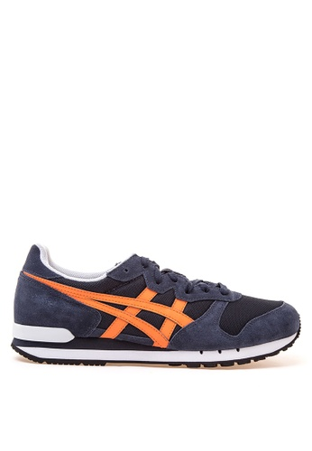 Onitsuka Tiger black and orange Alvarado Lace-up Sneakers ON625SH23YVSPH_1
