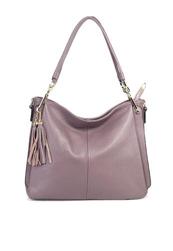 Twenty Eight Shoes purple VANSA Pebbled Top Layer Cowhide Tote Bag VBW-Hb1818 078D4ACD1F59ECGS_1