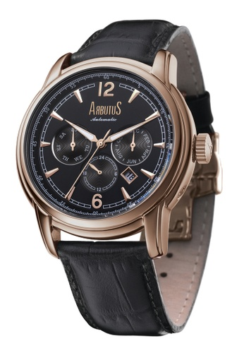Arbutus black and pink and gold Calendar Automatic AR142AC83HZCSG_1