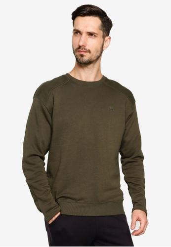 BLEND green Mini Logo Embroidery Sweatshirt DE906AA863673DGS_1