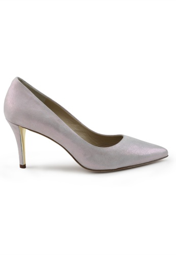 Shu Talk purple Metallic Sheepskin Suede Pointed Toe High Heels SH397SH0GO5GSG_1