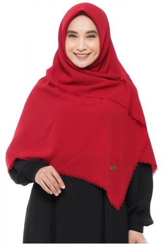 First Hijab red Corrina Square Instant In Maroon 9CB79AA4E5F5F7GS_1