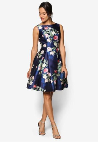 Ingesprit 高雄rid 挖背花卉無袖洋裝, 服飾, 洋裝