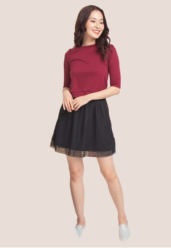 L'zzie red LZZIE ALLIN TWO-PCS DRESS - RED 7AD2FAAAB4515EGS_1