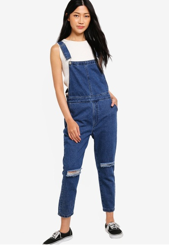 Something Borrowed blue Distressed Dungaree DC2C0AA1029F50GS_1