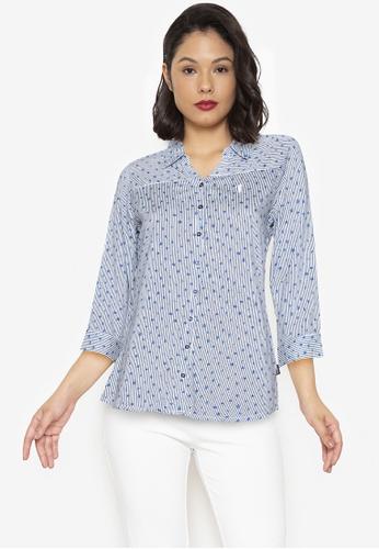 Bossini Ladies multi Woven Printed Rayon 3/4 Sleeves Top 86C27AA27FAD54GS_1