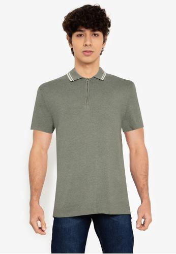 Abercrombie & Fitch 綠色 Zip Polo Shirt 23E7FAA0AE6E4FGS_1