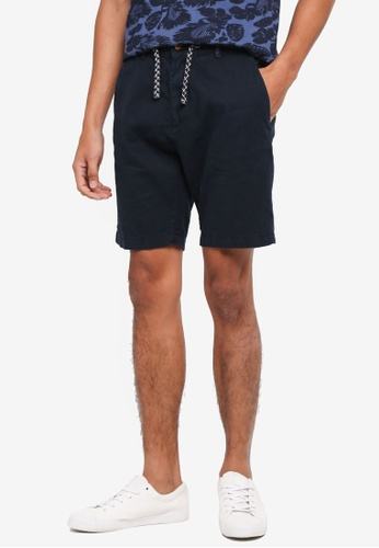 Indicode Jeans 海軍藍色 Bowmanville Drawstring Shorts 19A02AA1A1E2BBGS_1