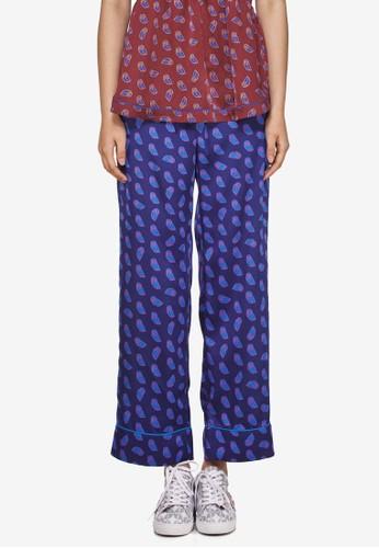 Bebe 印花寬管睡覺esprit衣服目錄長褲, 服飾, 長褲及內搭褲
