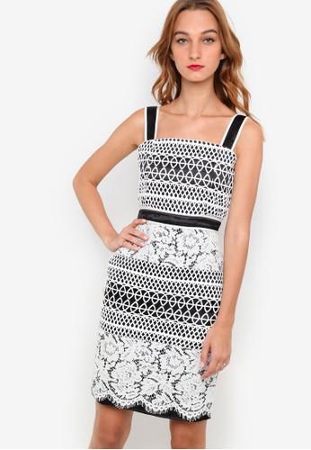 Veron 蕾絲連身裙, 服zalora時尚購物網的koumi koumi飾, 派對洋裝