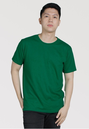 CROWN green Men's Round Neck Tshirt A77FEAA0700846GS_1
