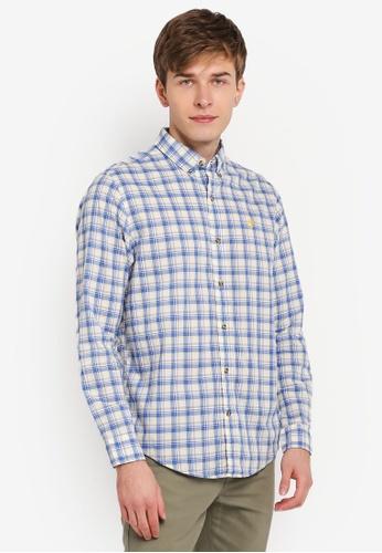 Timberland blue Long Sleeve Indra mediym Checkered Regular Shirt TI063AA0SJRTMY_1