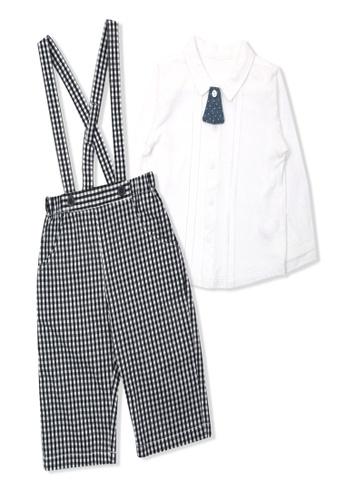Organic mom grey and white Organic Cotton Ivy Shirt Top & Bottom Set 585FDKA769DE5AGS_1