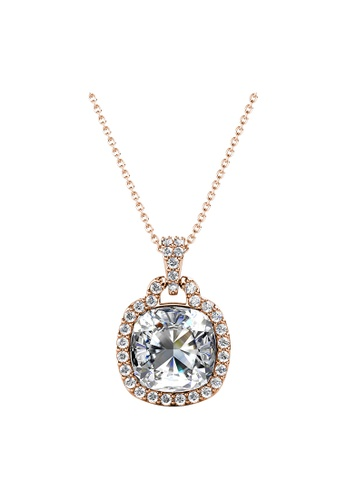 LOVE AND LIFE gold Love & Life Madison Pendant (Rose Gold Crystal) embellished with Crystals from Swarovski 7B3A2AC62523A7GS_1