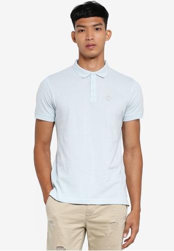 !Solid blue Manfred Polo Shirt 83556AA0E20E33GS_1
