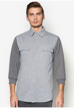 WT- 3/4 Quilted Sleeve Shirt
