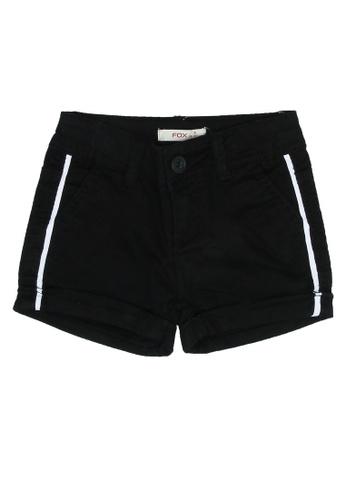 FOX Kids & Baby black Basic Stripe Detail Shorts 23C9FKA7DD4370GS_1