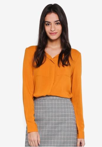 Vero Moda orange Lou Long Sleeve Top FBCF0AA23EB74CGS_1