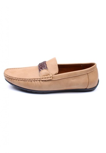 Moley brown Faux Leather Twine Strap Loafer MO329SH19AJSSG_1