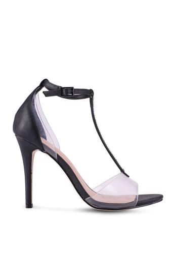 Call It Spring black Kayloni Open Toe T-Strap Heels 508A9SHEC286ADGS_1