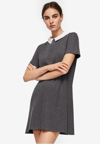 Mango grey Babydoll Neck Dress 215E8AAF69B4CFGS_1