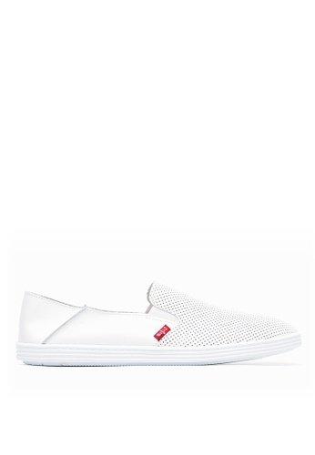 Life8 white 2-Ways for wearing leather casual shoes-09743-White LI283SH0GV0GSG_1