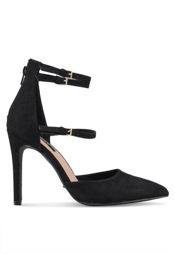 ONLY 黑色 粗跟高跟鞋 48A0BSH897A135GS_1