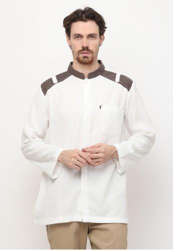 AL-LUTHFI white Koko Panjang Jamil 62099AA949CCEAGS_1