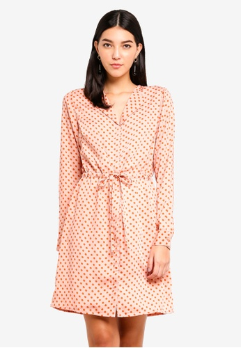 Pieces pink Erika Long Sleeve Dress 4702BAA5EAE75CGS_1