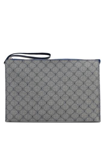 Playboy blue Faux Leather Clutch Bag B4698AC0D2D566GS_1