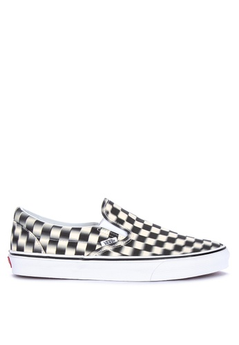 VANS multi Blur Checkered Classic Slip-On Sneakers 5BF10SHC70C6D2GS_1