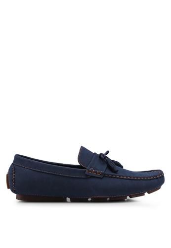 UniqTee blue Tasseled Penny Loafers A7AF8SH06475B6GS_1