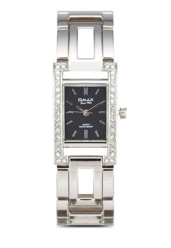 Omax JES676S 晶鑽esprit衣服目錄方框鍊錶, 錶類, 淑女錶