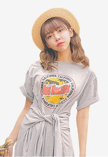 洛杉磯印花短袖連身裙, 韓系時尚, esprit hong kong 分店梳妝