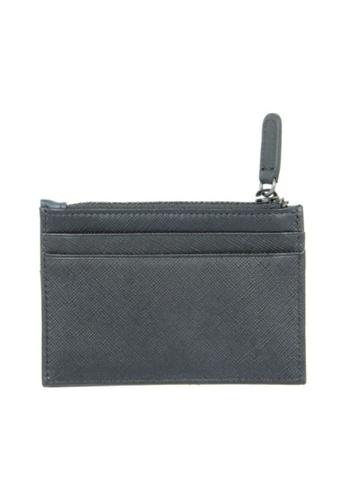 CROSSING black Crossing Edge Card Case With Zip Pocket RFID - Black/Indian Ink 5C42FAC4536C1EGS_1