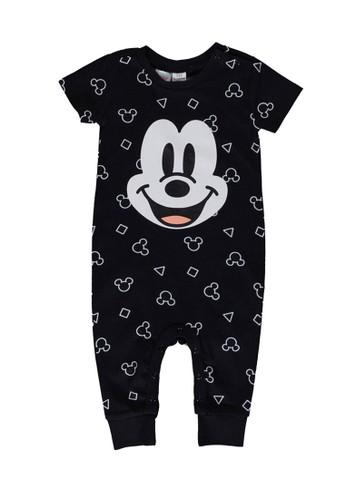 LC Waikiki black Baby Boy's Mickey Mouse Bodysuit 7359BKA379B883GS_1