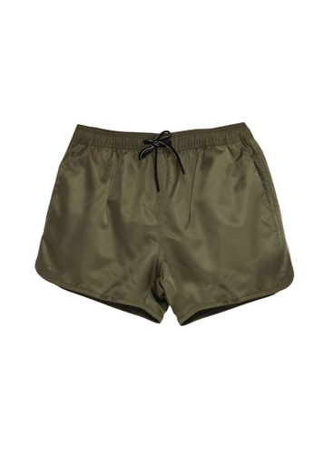 Topman green Khaki Swim Shorts AC852AAB9A2BA9GS_1