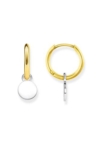 "THOMAS SABO silver hoop earrings ""disc"" 936D0AC9569FC3GS_1"