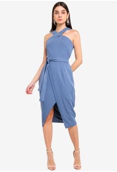 bb0570d3 25% OFF Lavish Alice Halter Neck Wrap Front Midi Dress RM 419.00 NOW RM  313.90 Sizes 8 10 12 14