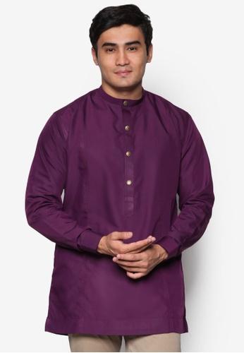 Amar Amran purple Kurta  Al Hakim AM362AA75UOAMY_1