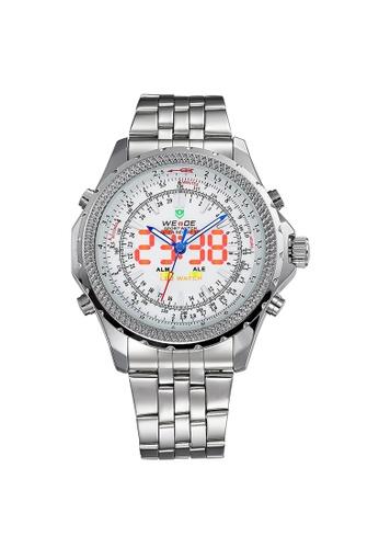 Weide silver WH904-2C Analog Watch WE088AC75KWEPH_1